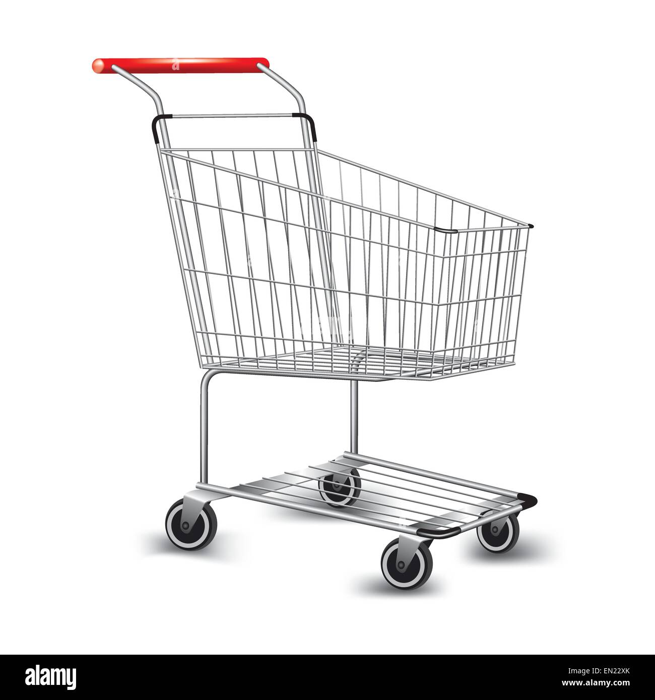 Empty supermarket shopping cart. Vector illustration - Stock Vector