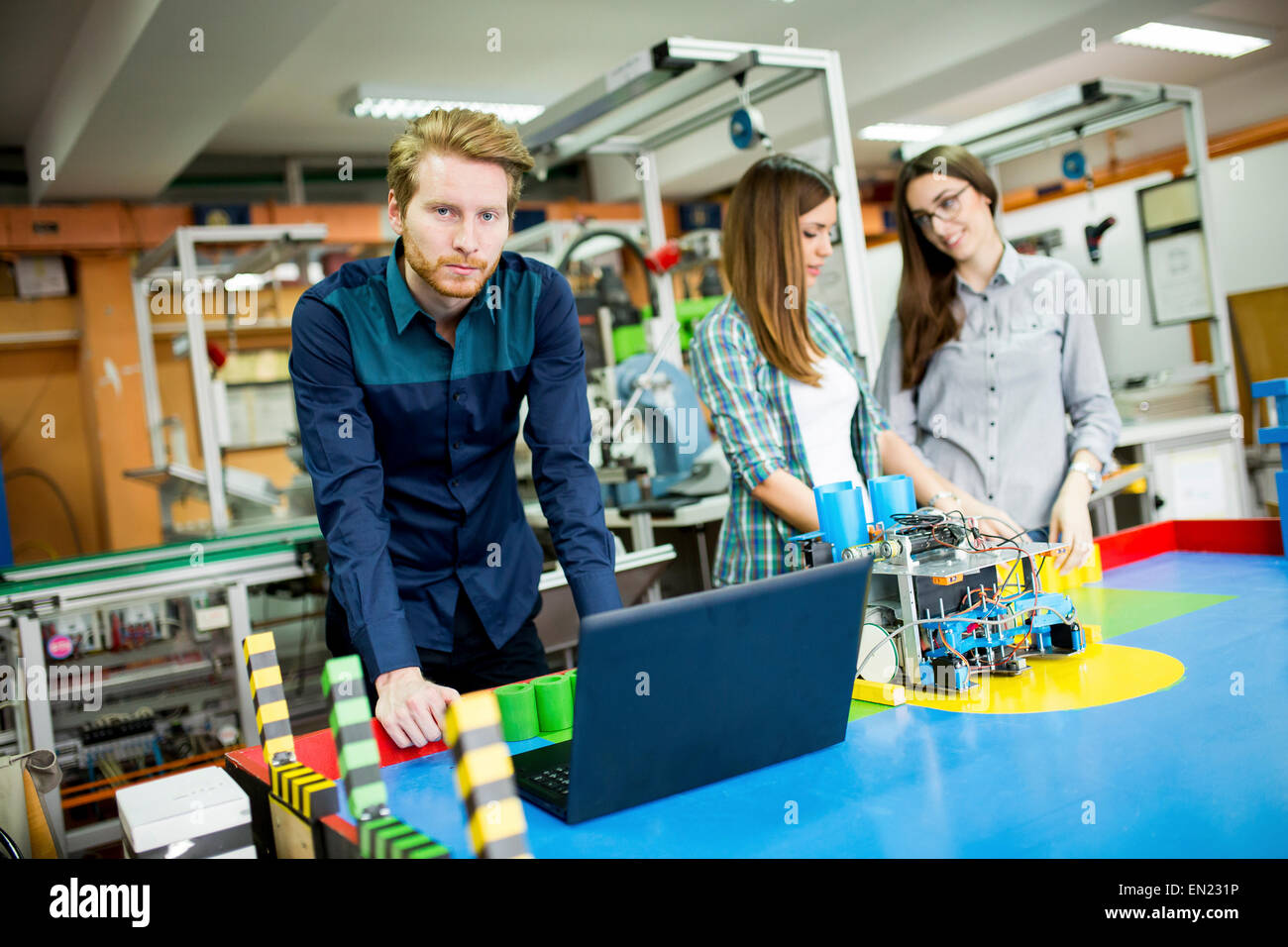 Young People In The Robotics Classroom Stock Photo 81795554 Alamy