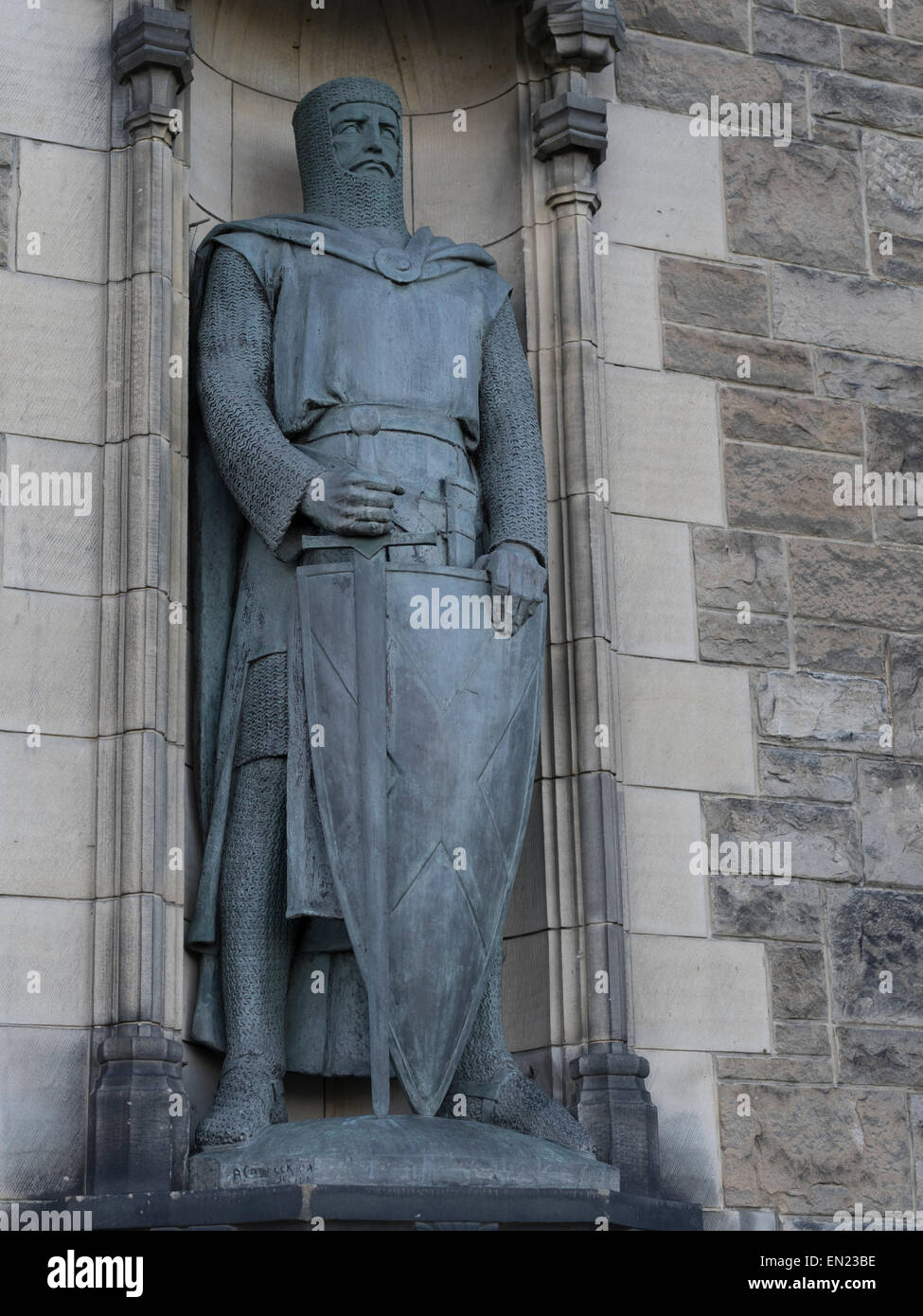 Memorial To Wallace, William Wallace, Edinburgh Castle, Scotland, UK. - Stock Image