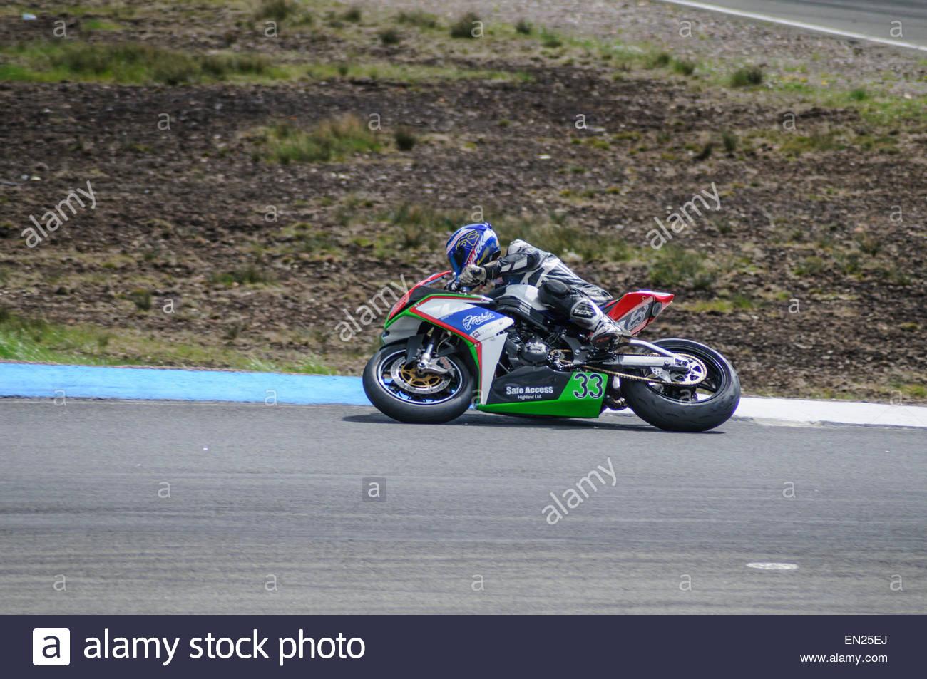 Dunfermline Uk 26 April 2015 Adrian Clark Kawasaki Er6 Exits The