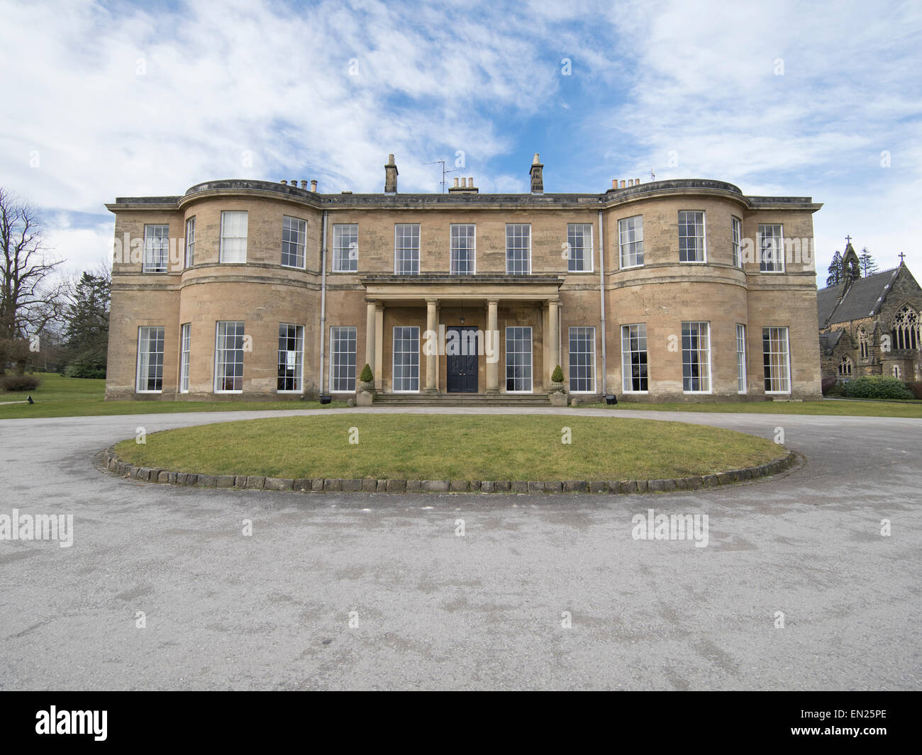 Rudding Park Hotel, a  Grade I listed Regency-style country house in Harrogate, North Yorkshire, England. Stock Photo