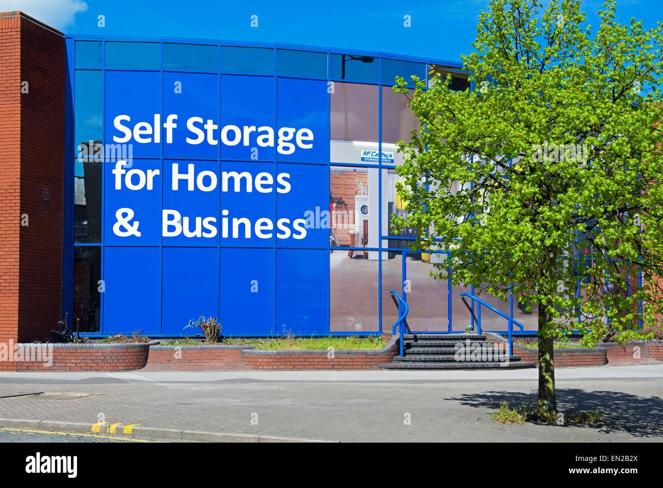 Self-storage unit in Wakefield, West Yorkshire, England UK - Stock Image