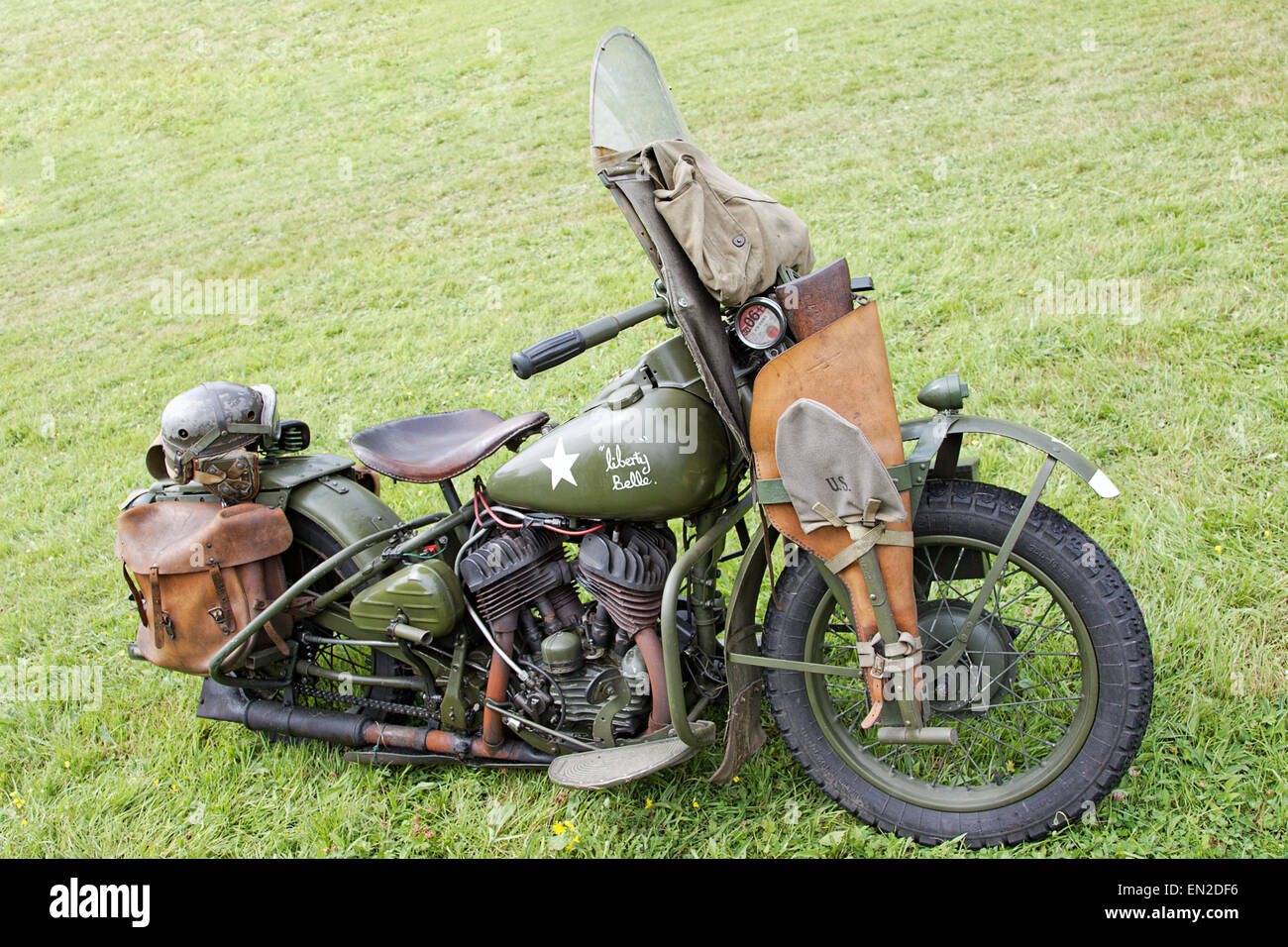 US Army Harley Davidson Motorcycle WLA Liberty Belle 9 (showing UK