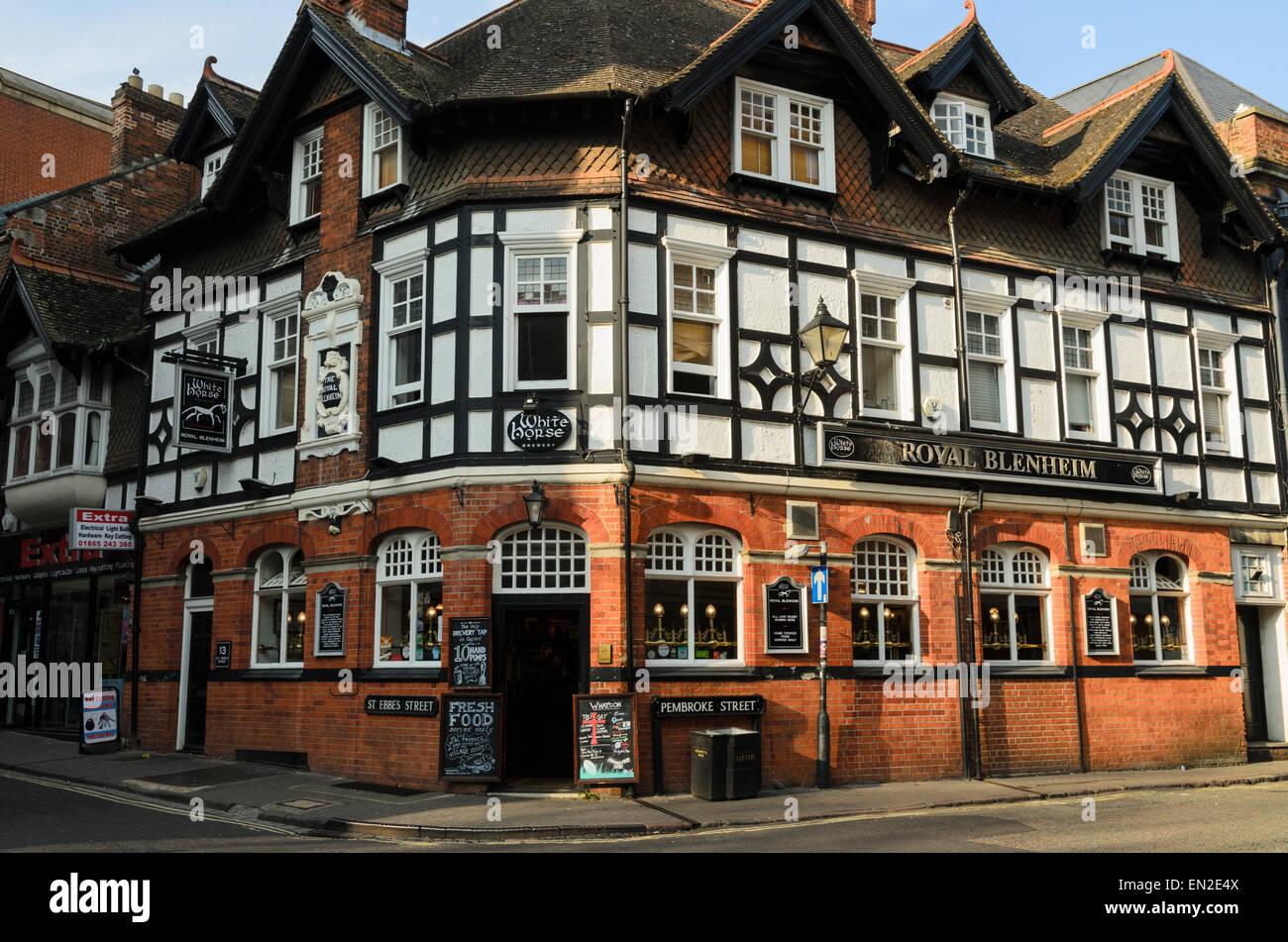 The Royal Blenheim Pub, St Ebbes, Oxford, U.K - Stock Image