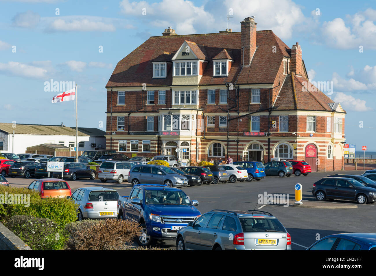 The Pier Hotel, Gorleston-on-Sea, Norfolk, UK - Stock Image