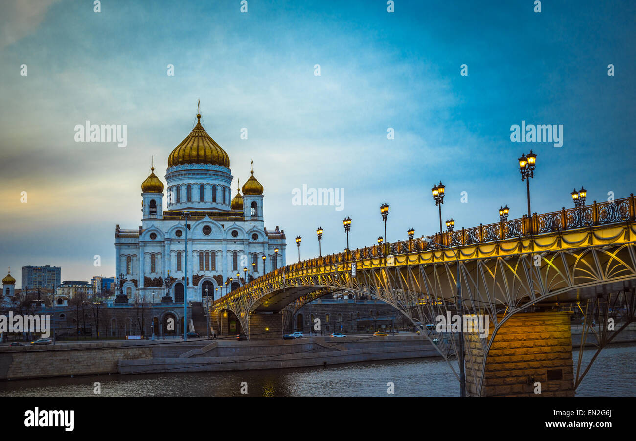 The Cathedral of Christ the Saviour in Moscow, Russia - Stock Image