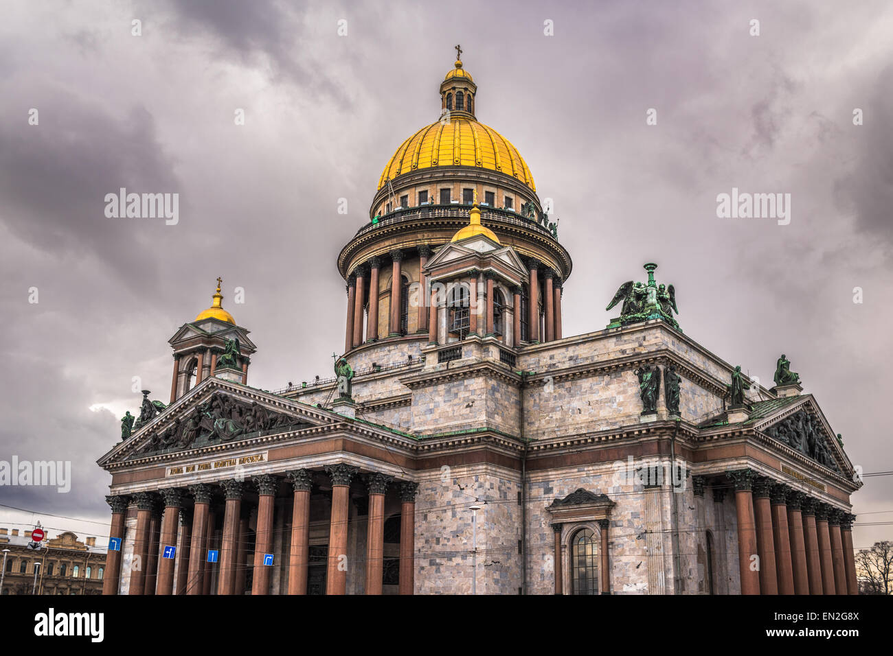 Saint Isaac's Cathedral in Saint Petersburg, Russia - Stock Image