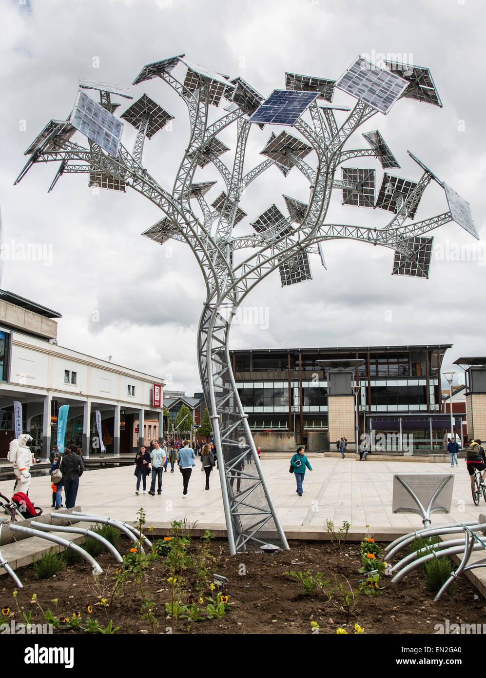 Solar Panel Tree In Bristol S Millennium Square Installed