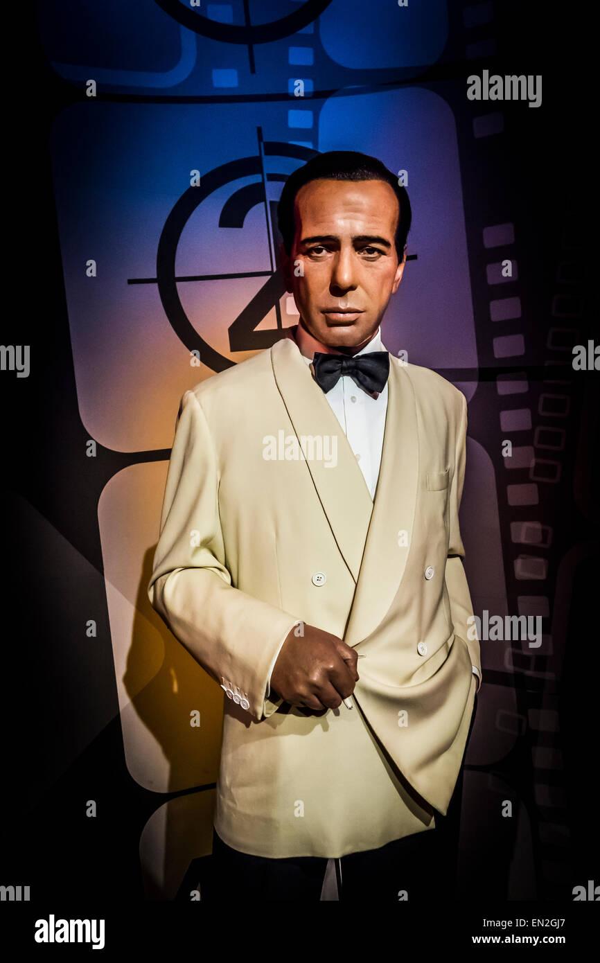 Humphrey Bogart, Madame Tussauds - Stock Image