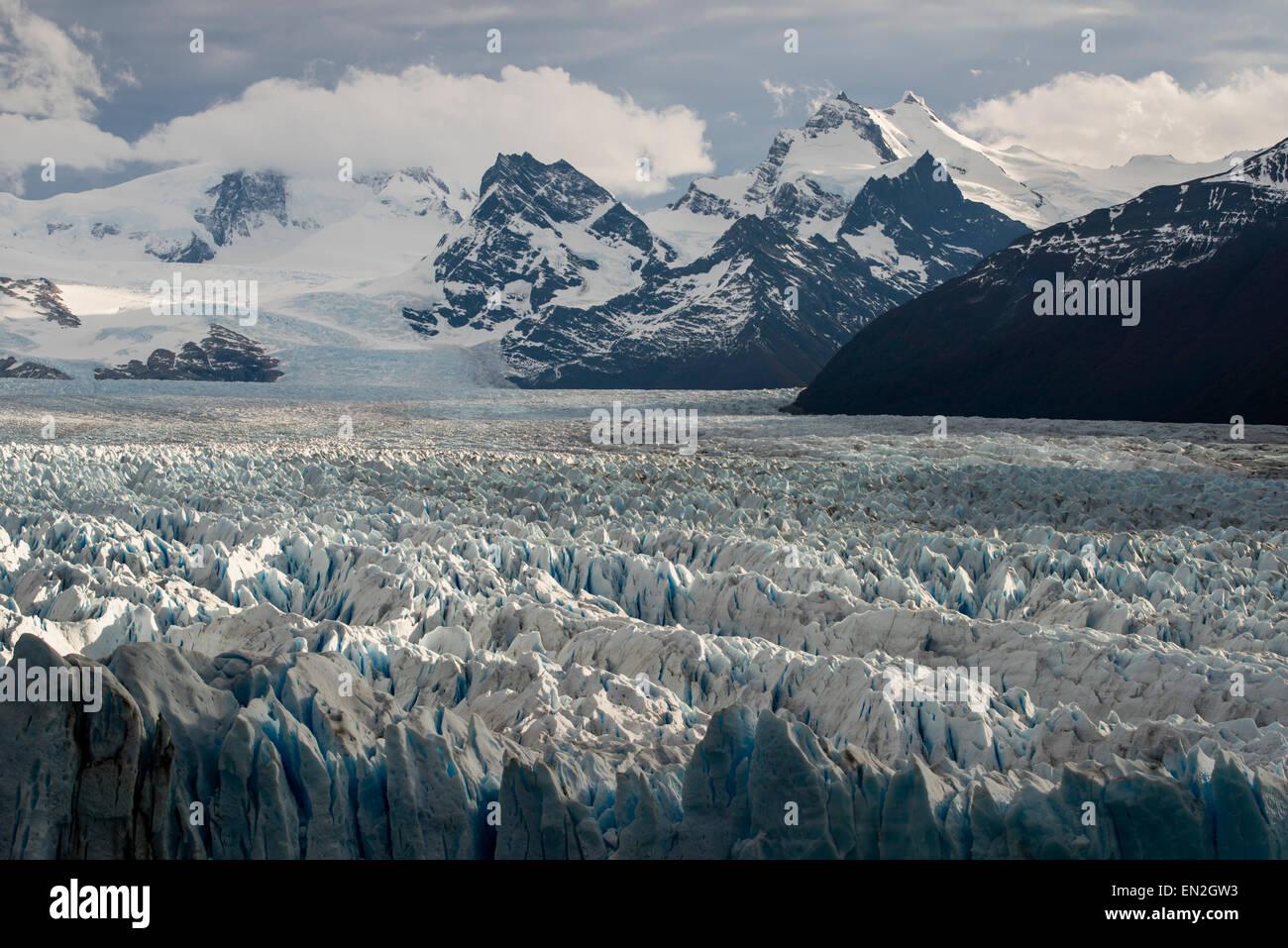 Glaciar Perito Moreno, Parque Nacional Los Glaciares, Santa Cruz, Argentina Stock Photo