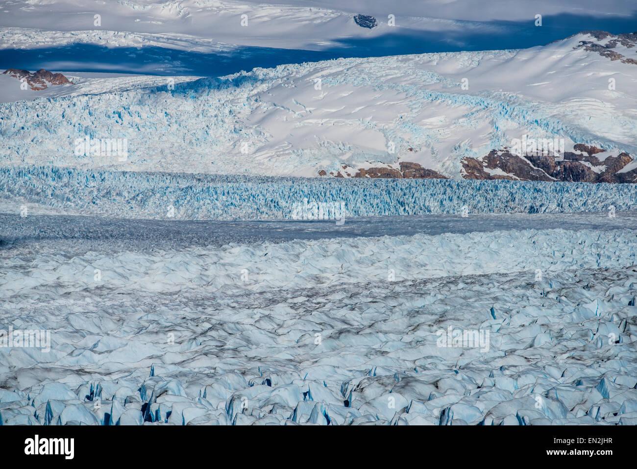 Glaciar Perito Moreno, Parque Nacional Los Glaciares, Santa Cruz, Argentina - Stock Image