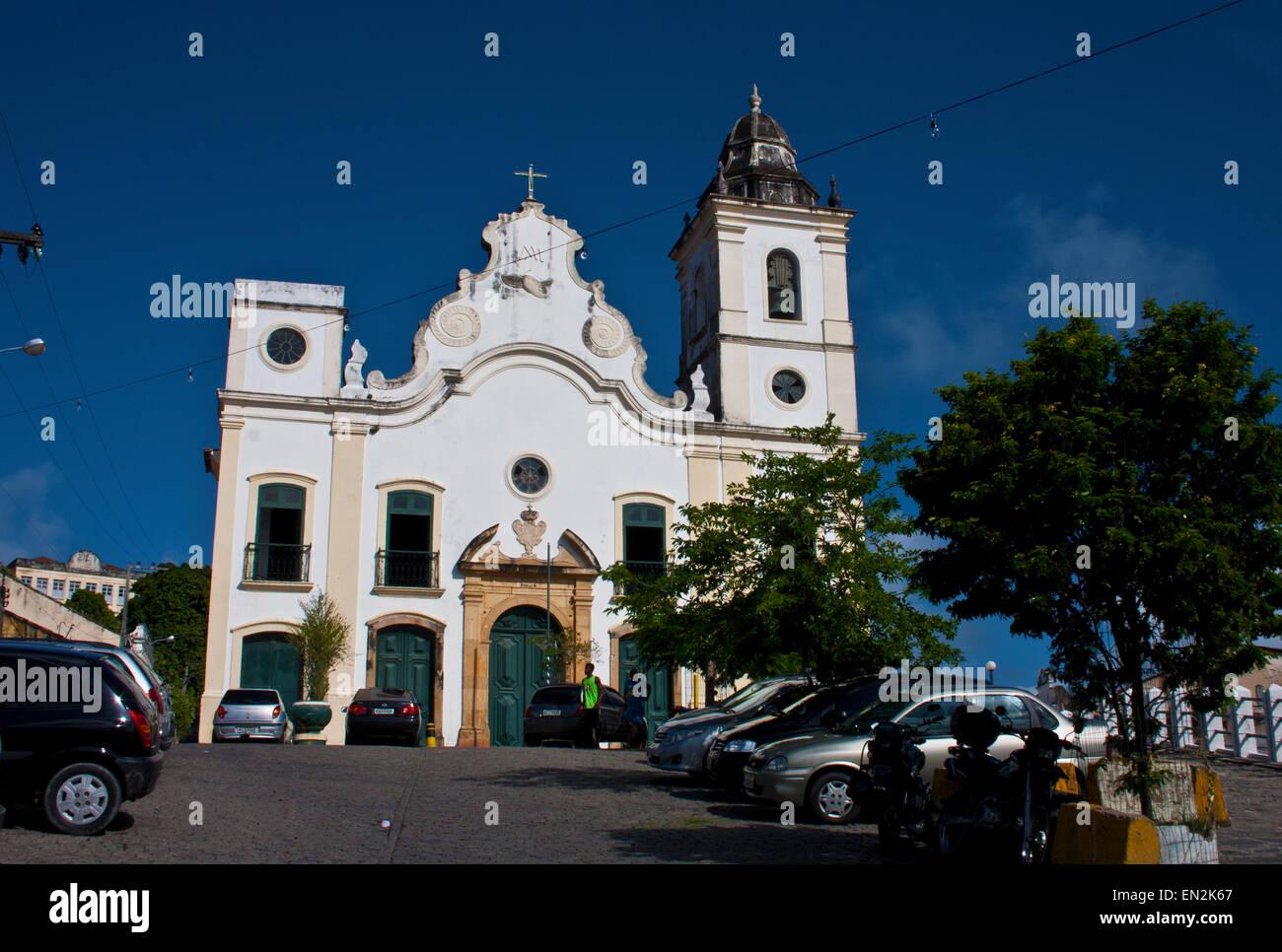 Olinda, Recife, Pernambuco, Brazil, Igreja do Amparo. - Stock Image