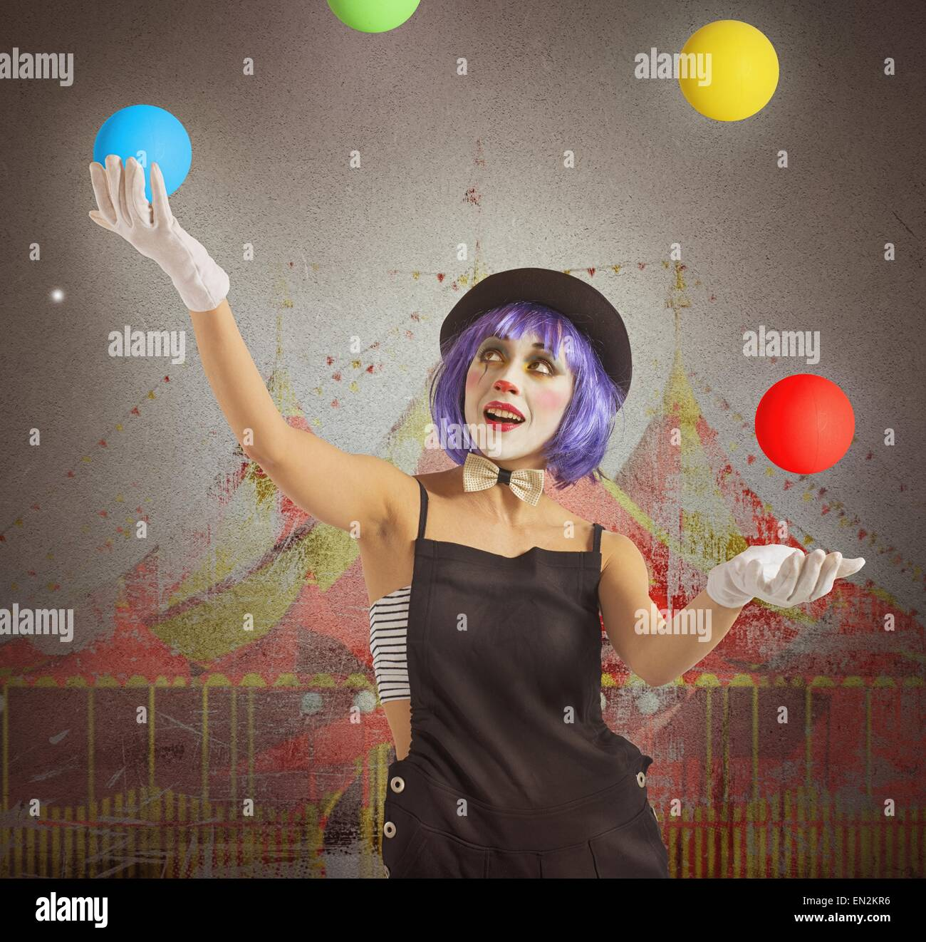 Juggler clown - Stock Image