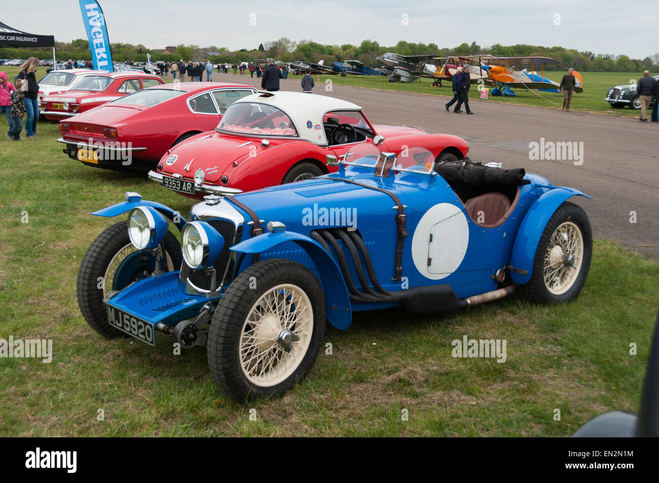 496 Riley Falcon Special (1935) vintage sport car at the 5th Sunday Brunch Scramble in Bicester Heritage, Oxfordshire, Stock Photo