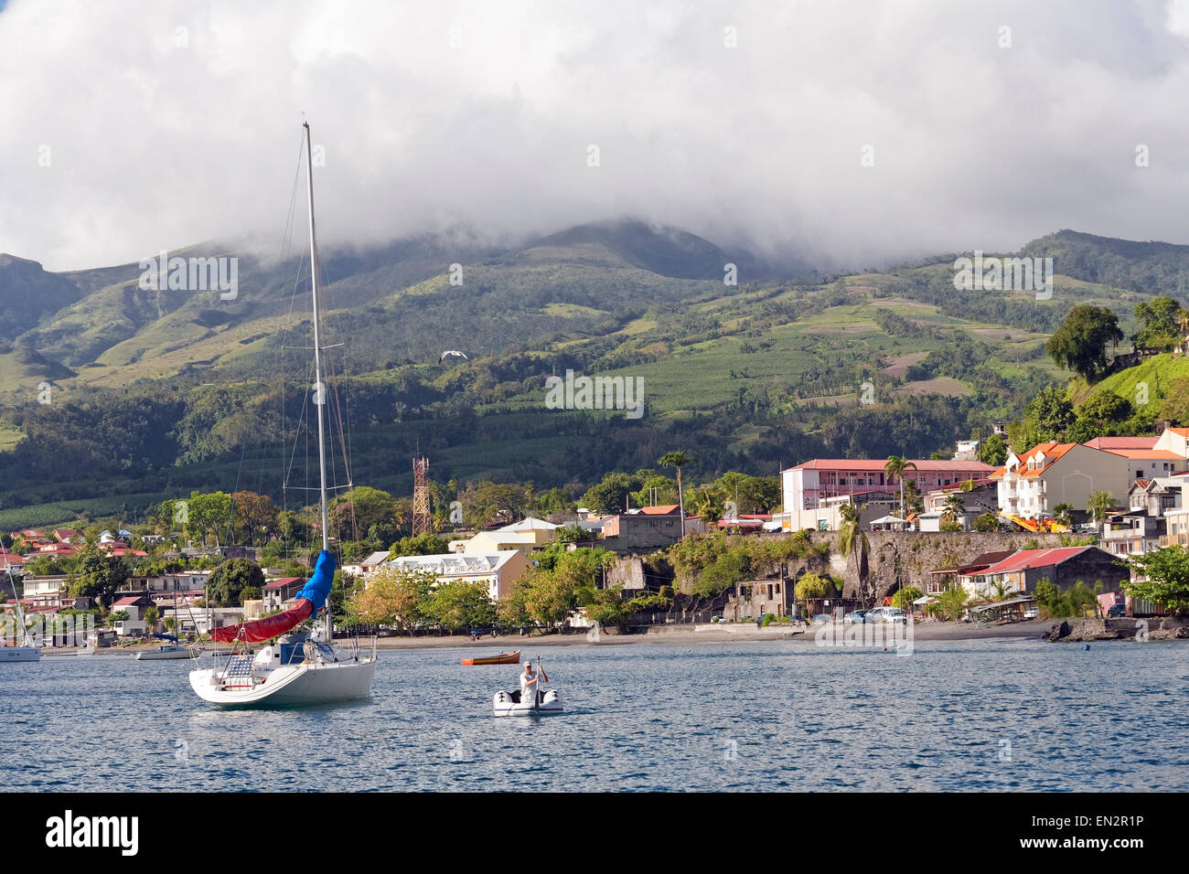 St. Pierre, Martinique - Stock Image