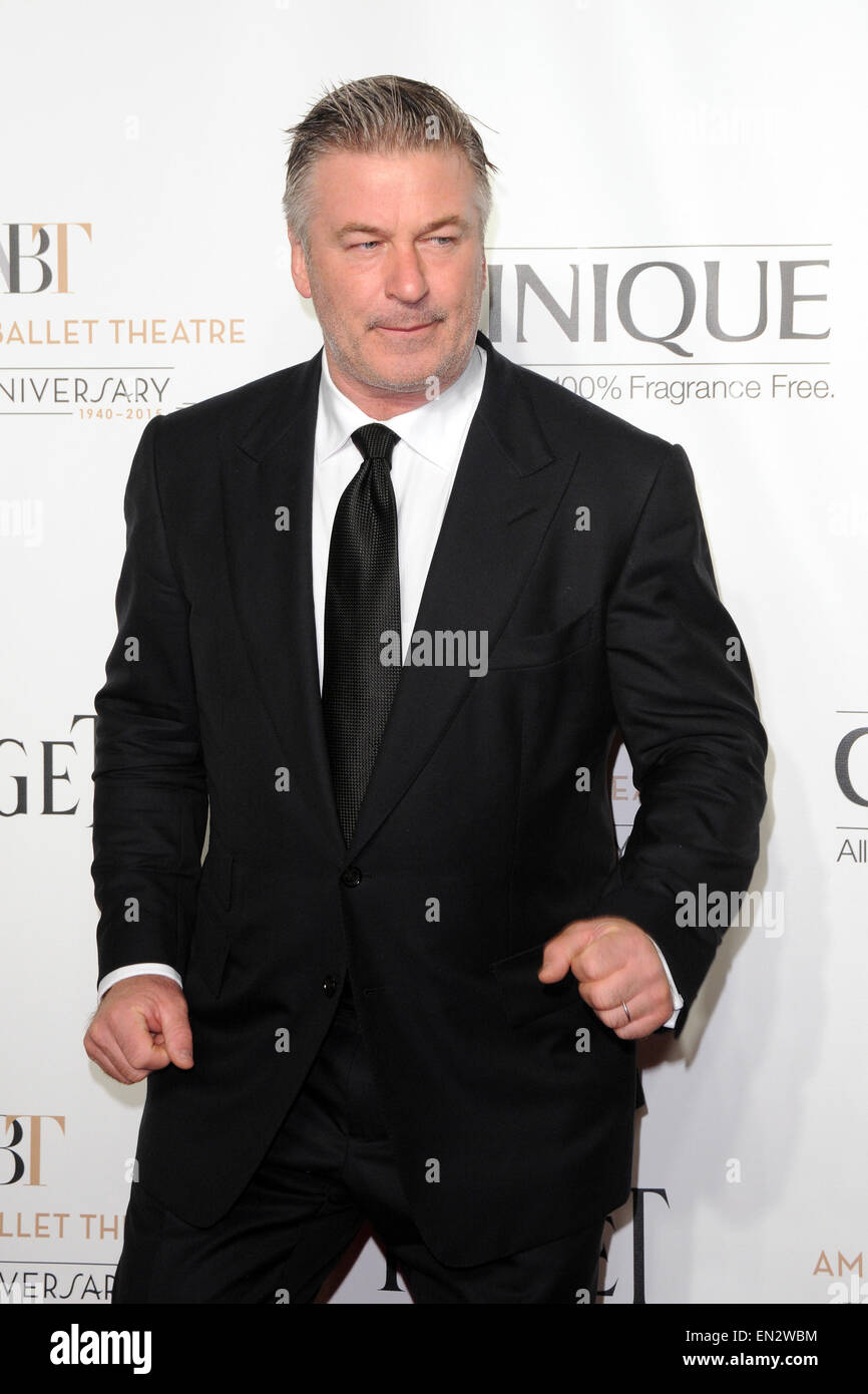 American Ballet Theatre Opening Night Fall Gala - Red Carpet Arrivals  Featuring: Alec Baldwin Where: Manhattan, Stock Photo