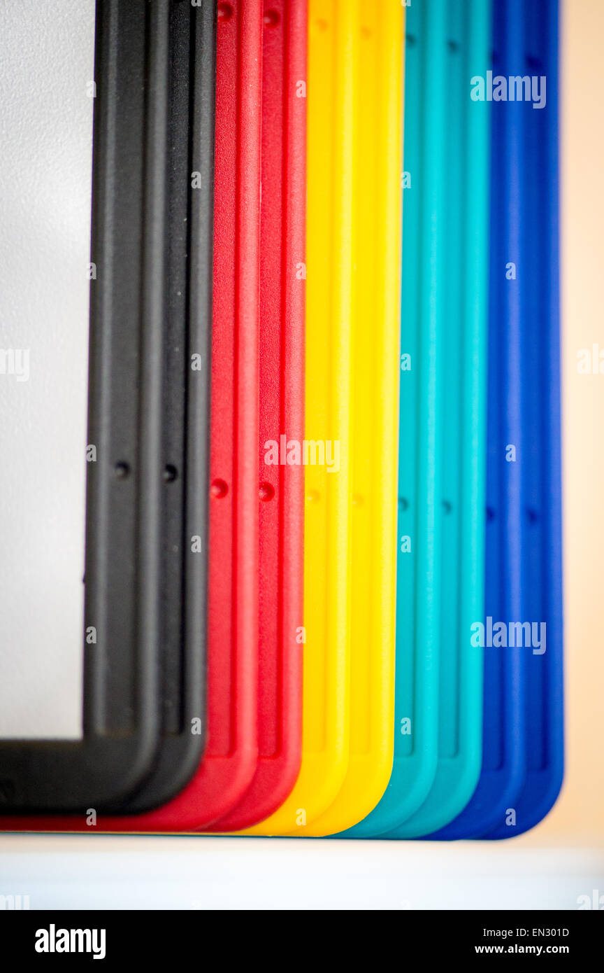 Multicolored folder - Stock Image