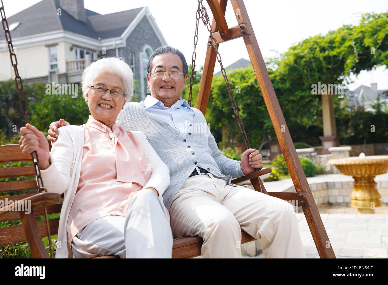Swing Old Couple Stock Photos Amp Swing Old Couple Stock