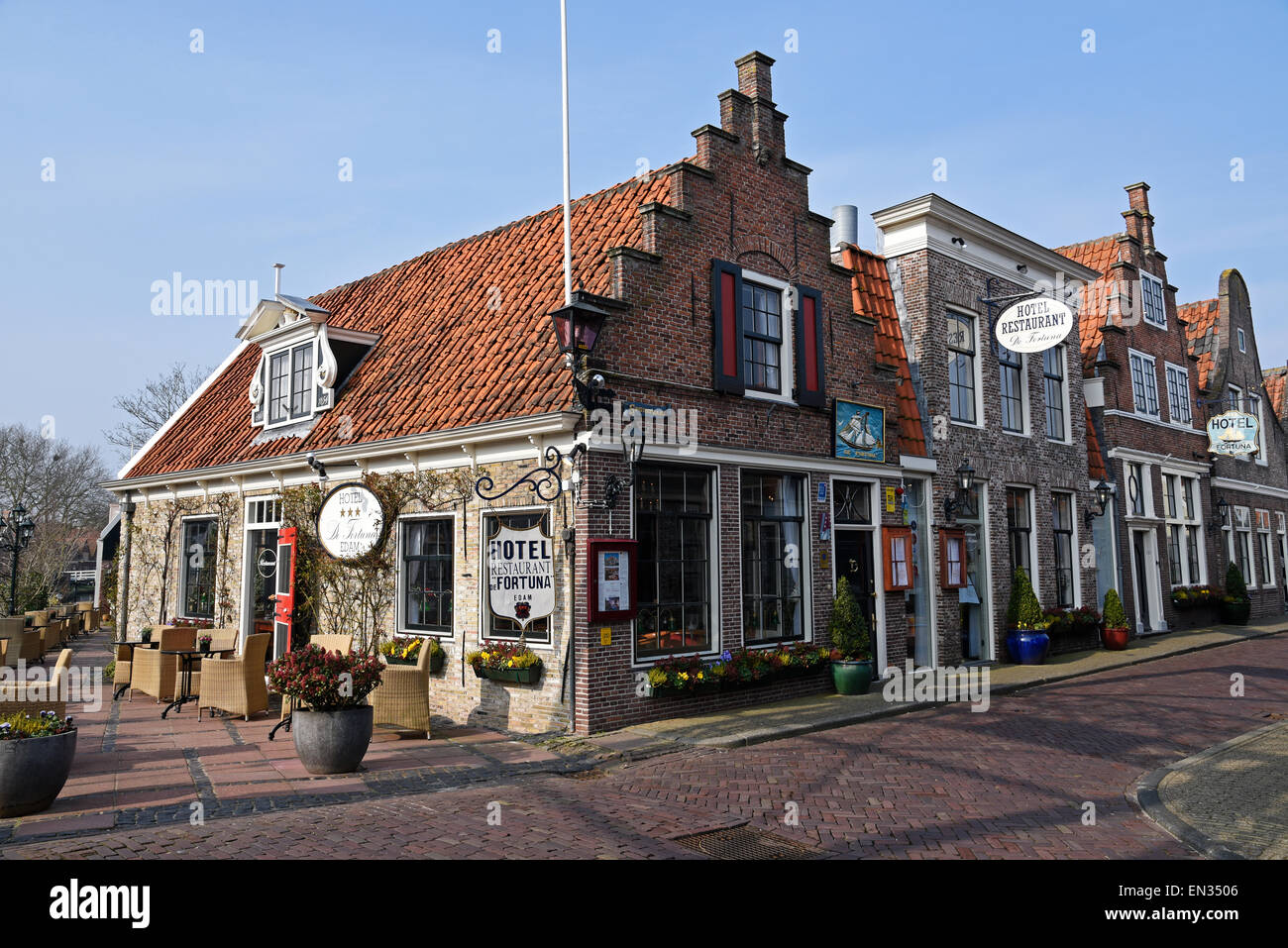 Hotel De Fortuna, Edam, province of North Holland, The Netherlands - Stock Image