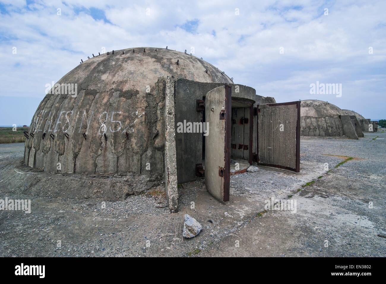 Bunker system, near Tale, Albania - Stock Image