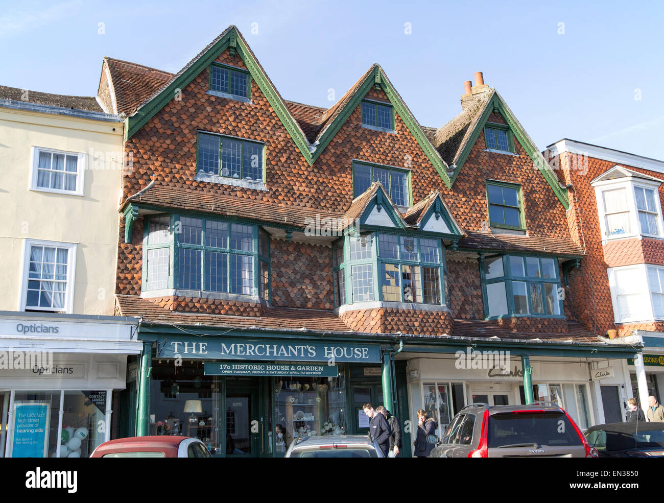 The Merchant's House on the High Street in Marlborough, Wiltshire, England, UK - Stock Image