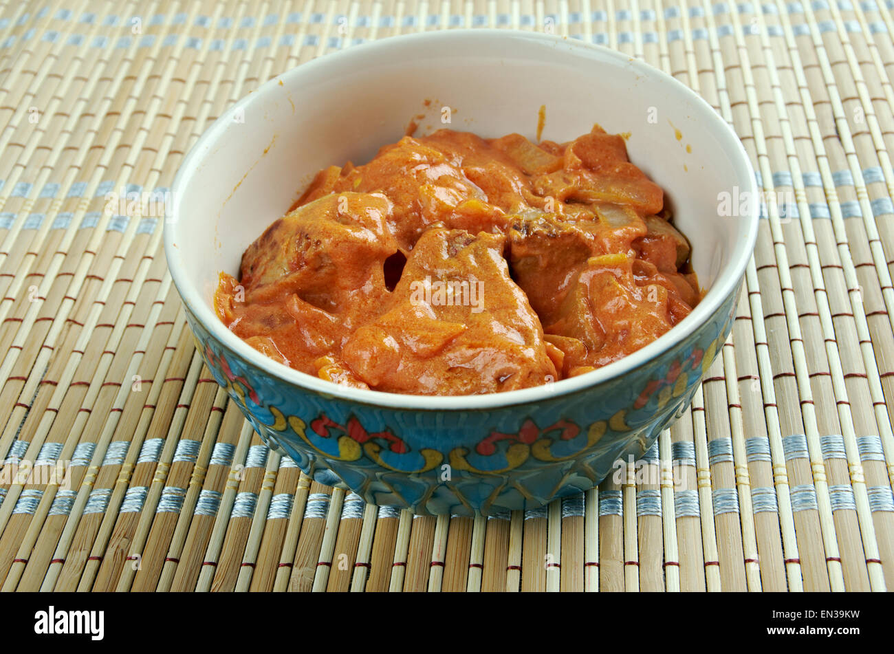 Lamb Rogan Josh - lamb dish of Persian origin, which is one of the signature recipes of Kashmiri cuisine. - Stock Image