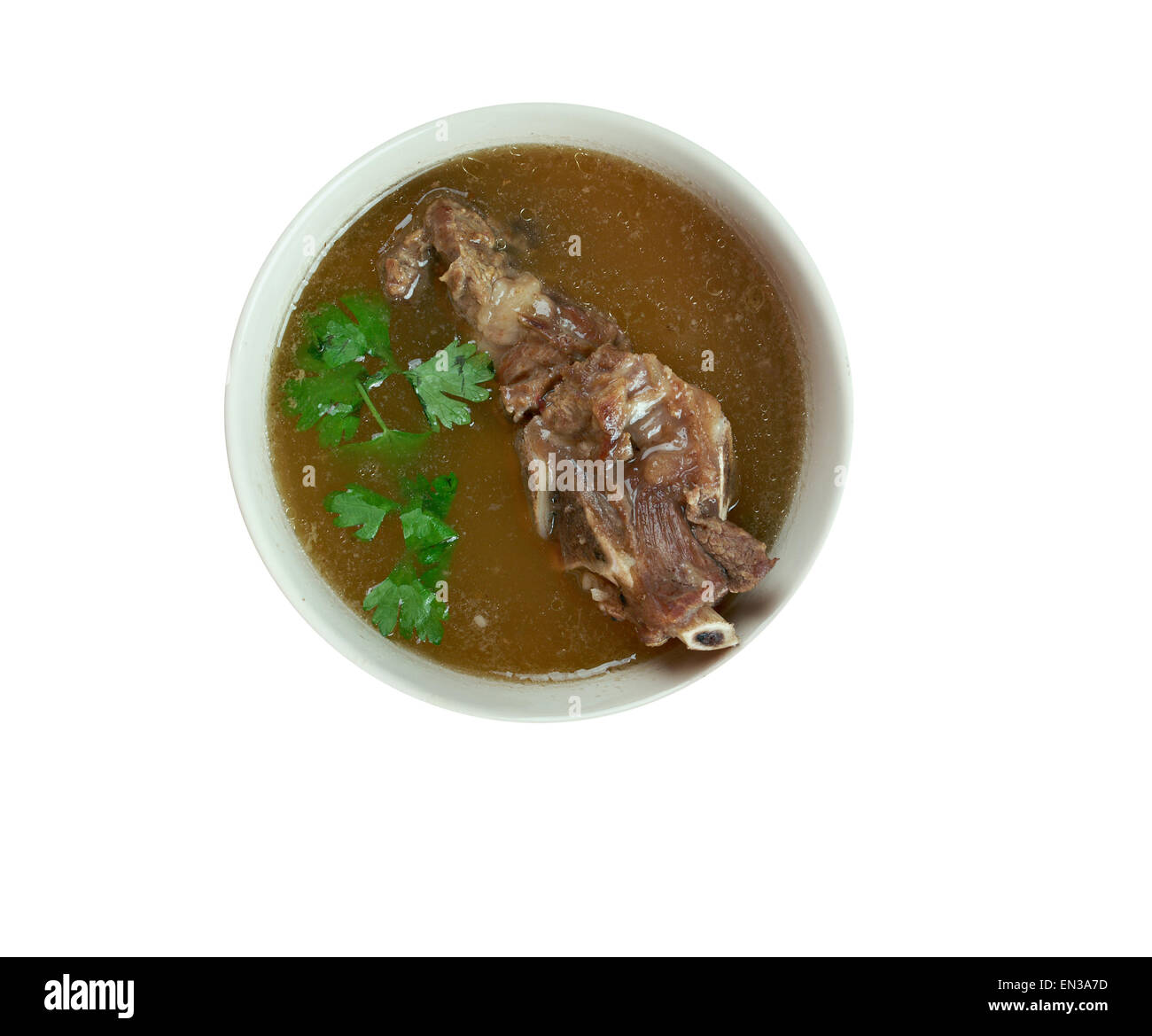 Khash - dish of boiled cow's feet. traditional dish in Afghanistan, Armenia, Azerbaijan, Bosnia and Hercegovina, - Stock Image