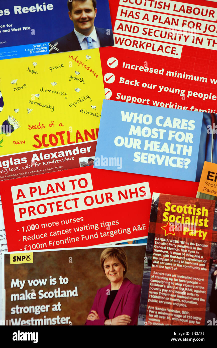 general election 7 may 2015 campaign flyers from various political