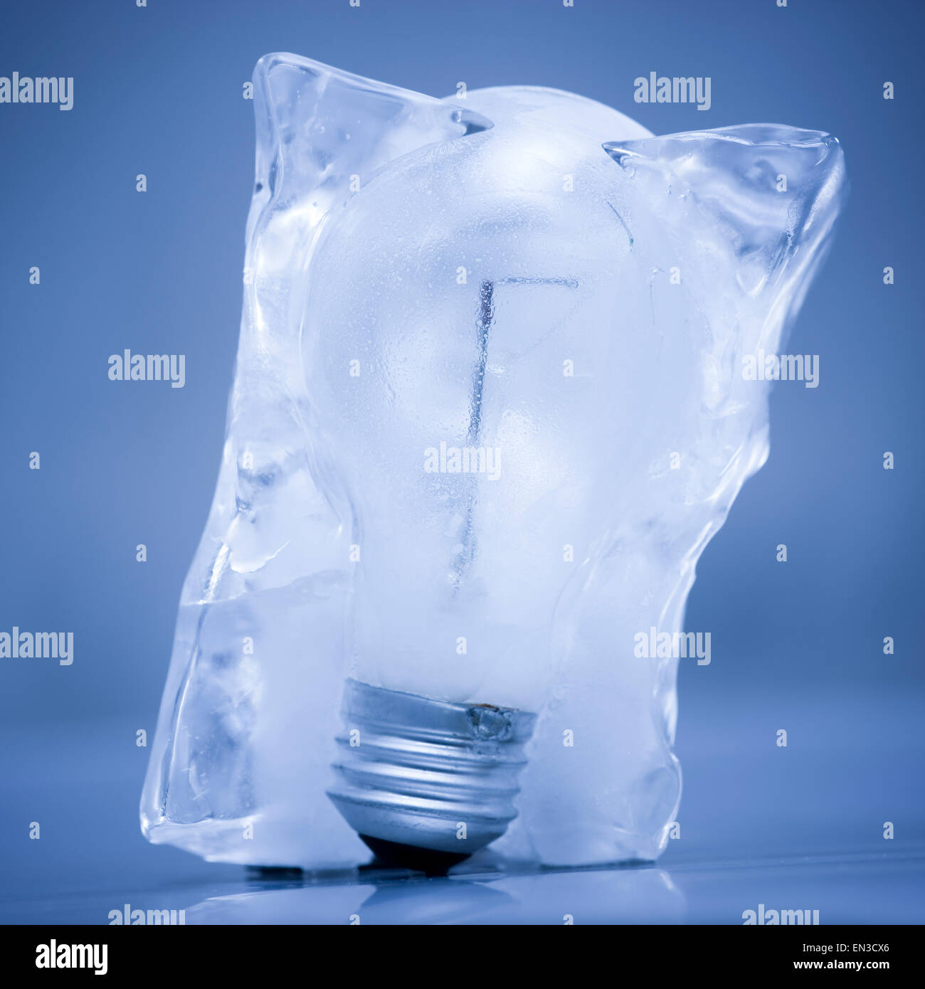 light bulb frozen in a block of ice stock photo 81825246 alamy