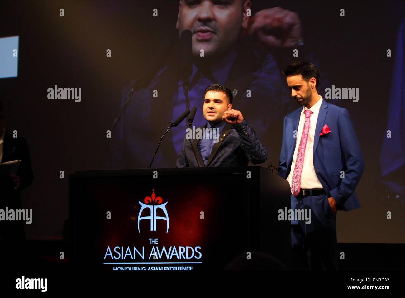 London 17 /04 /2015  Park Lane Naughty Boy Receives award at Asian awards Stock Photo