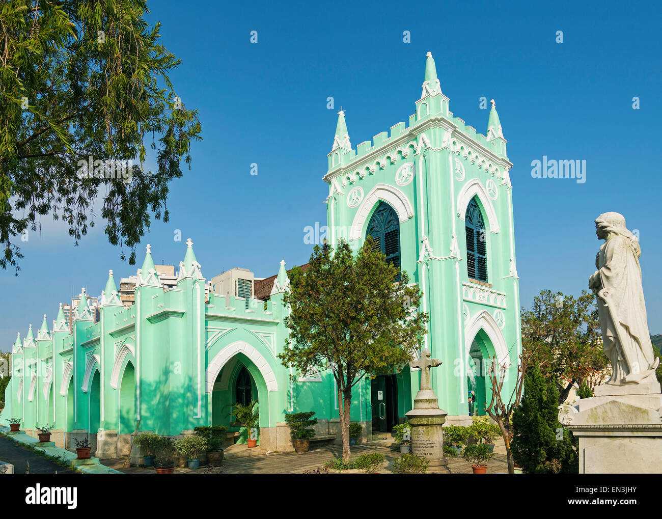 St michael portuguese christian cemetery church in macau macao china - Stock Image