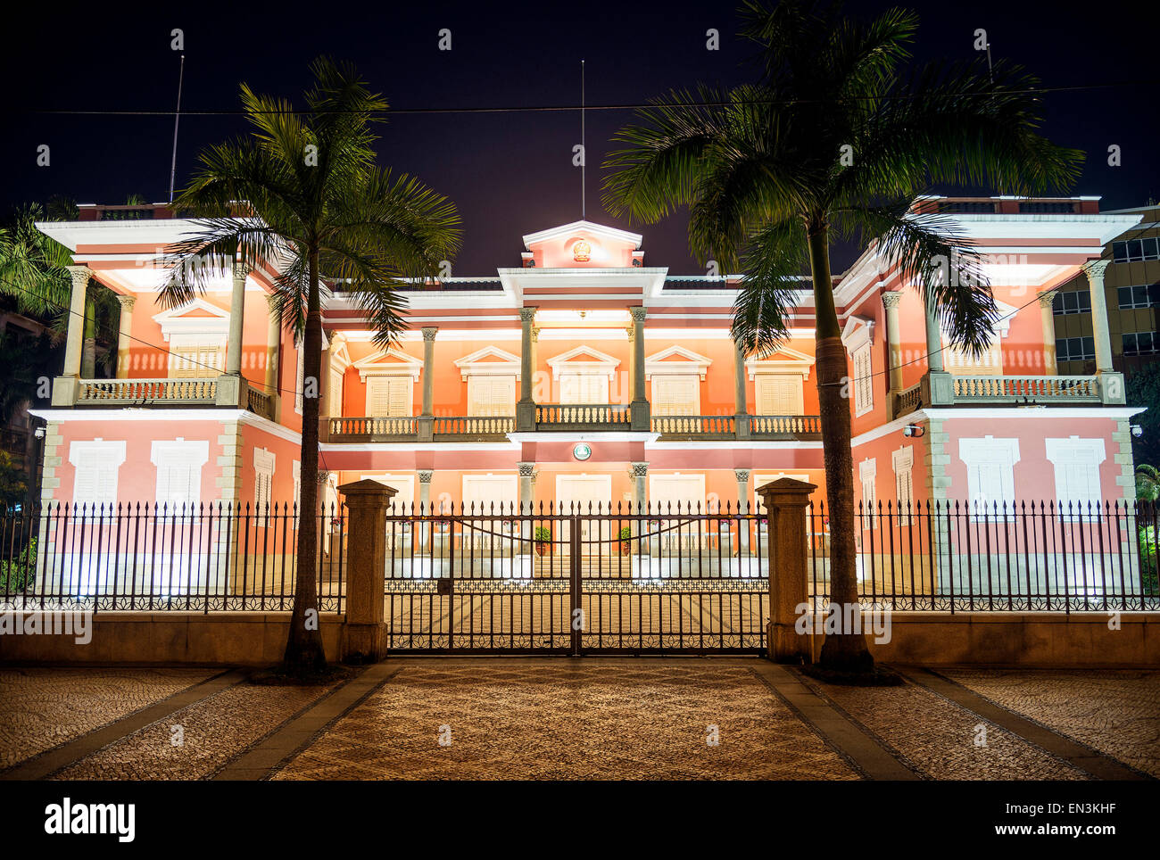 colonial government headquarters building in macau macao china - Stock Image