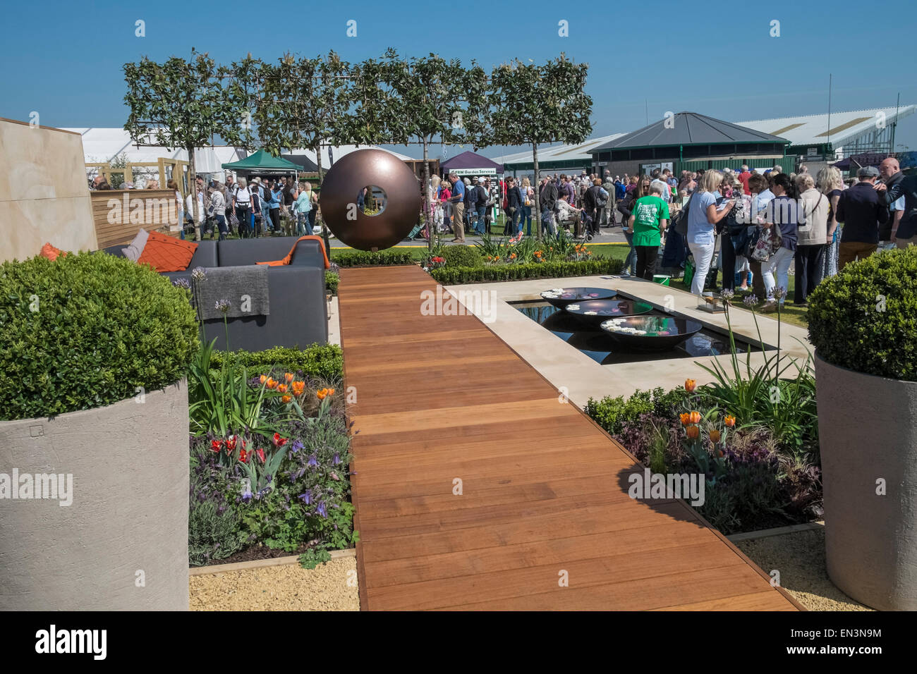 Modern Garden Design On Display At Harrogate Spring Flower Show