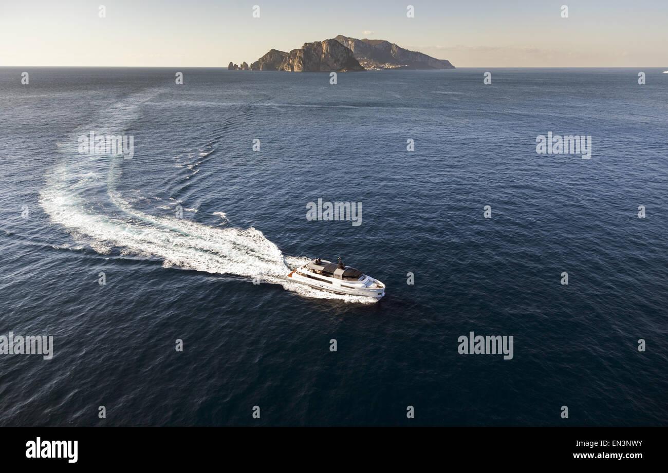 Luxury motor yacht, boat - Stock Image