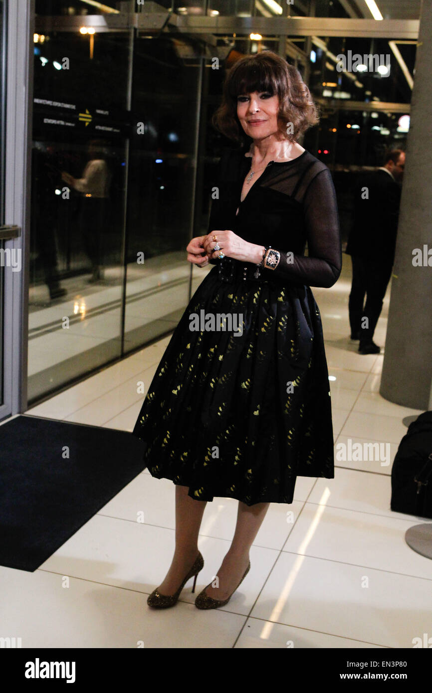 French actress FANNY ARDANT attends at the 15th Hellenic Film Awards at Onassis Cultural Centre. Fanny Ardant was - Stock Image