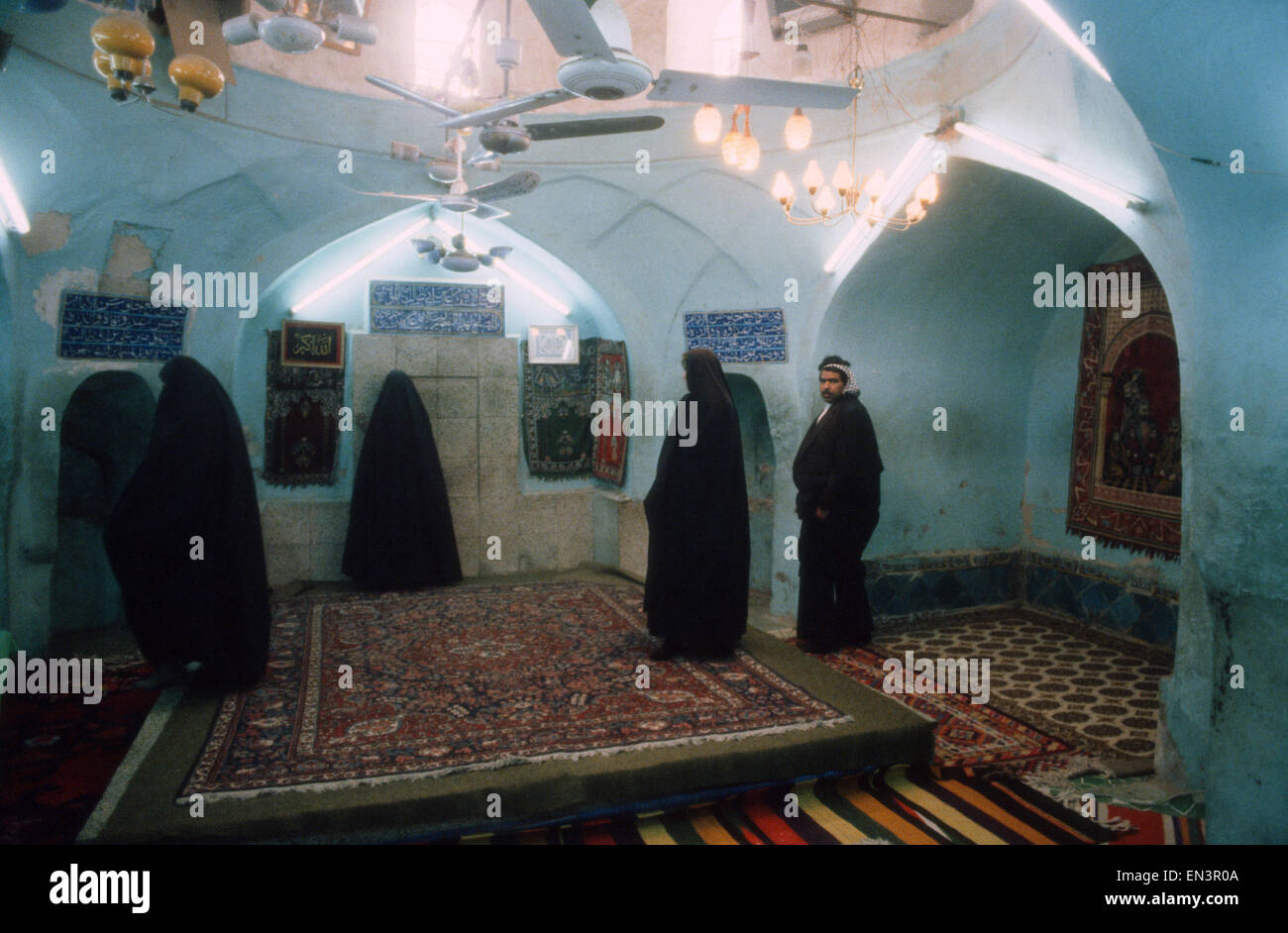 interior of house of Imam Ali in holy Shiite city of Kufa, Iraq - Stock Image