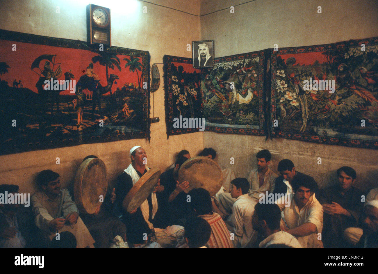 Sufi ceremony in private house in Baghdad Iraq in late 1970s - Stock Image