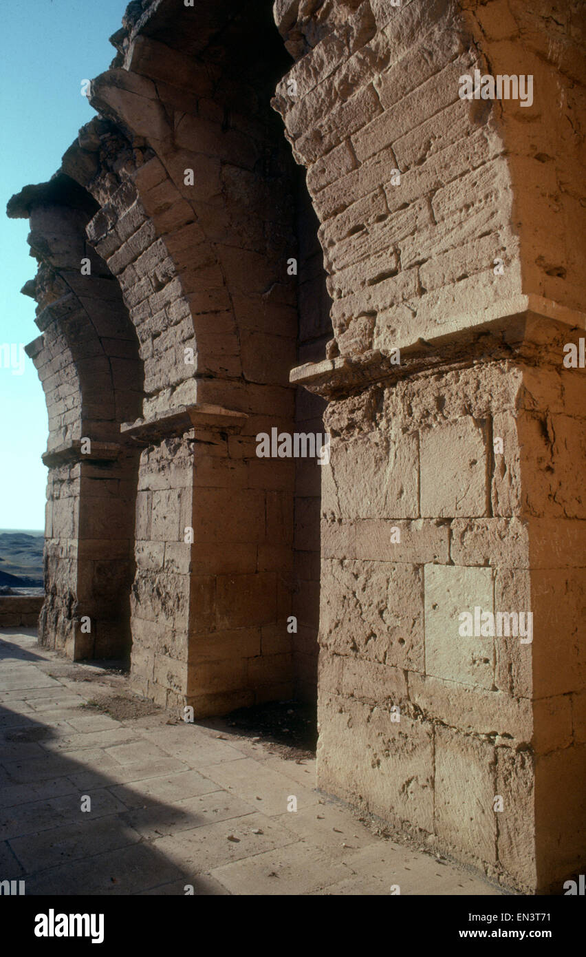 ancient Parthian ruins of Hatra in Northern Iraq, a UNESCO World Heritage site, recently destroyed by ISIS Islamic - Stock Image