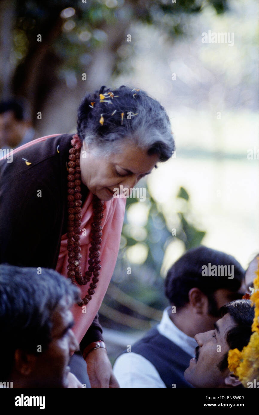 Indira Gandhi was the only daughter of Jawar Lal Nehru, First woman Prime Minister of India. Two terms PM of India - Stock Image