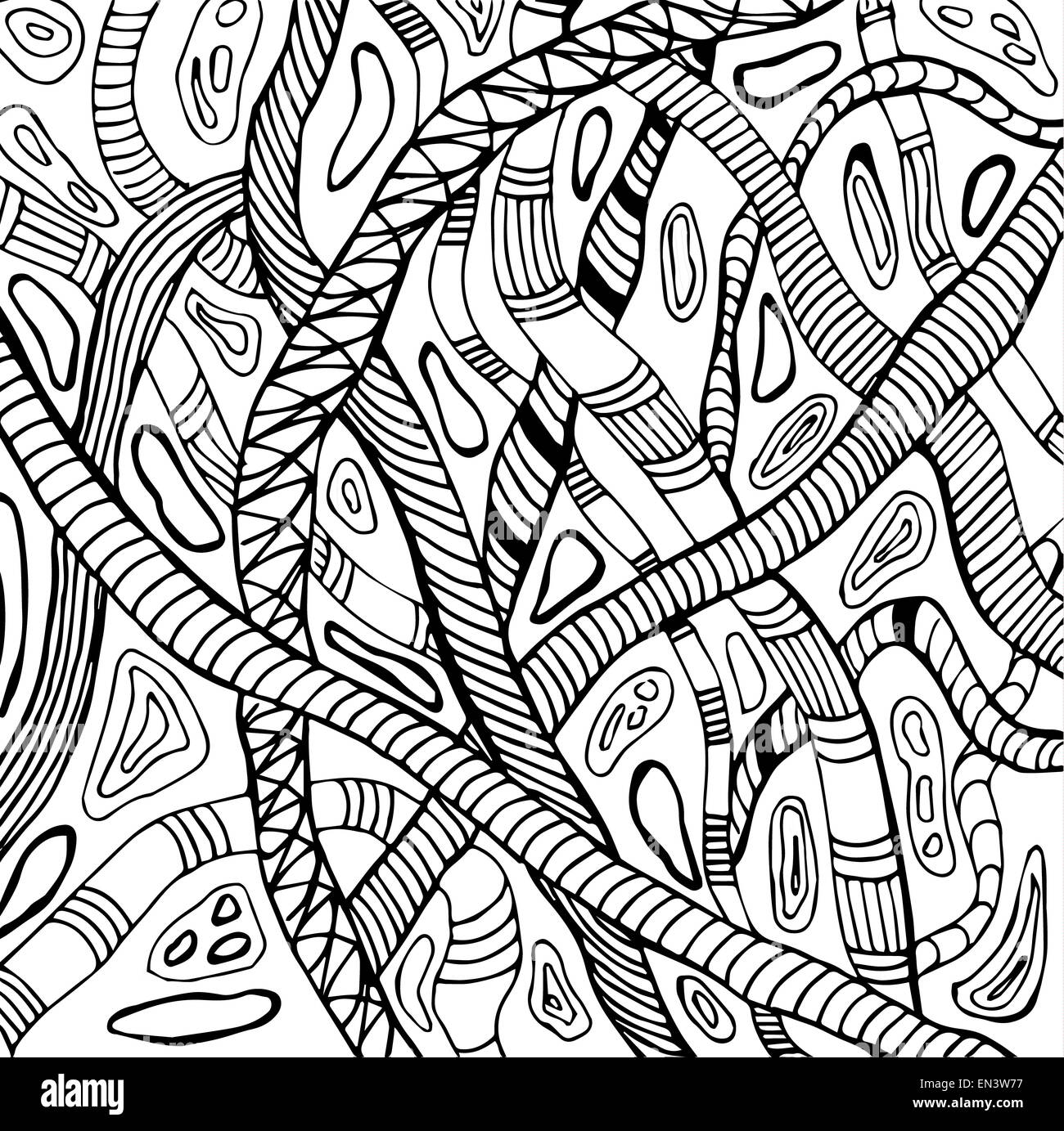 Abstract illustration of snakes - Stock Image