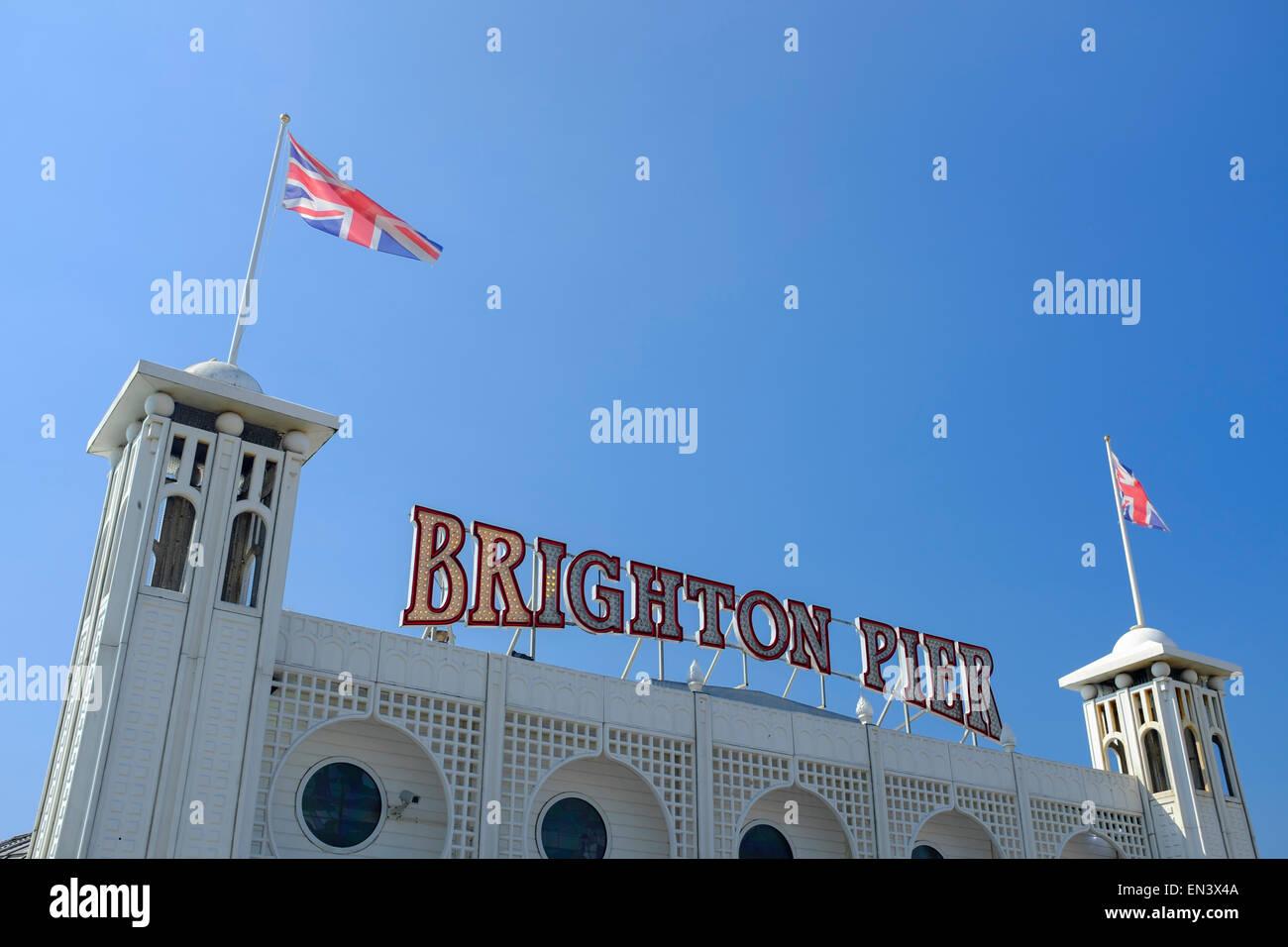 Brighton Pier. Brighton, East Sussex, England, UK - Stock Image