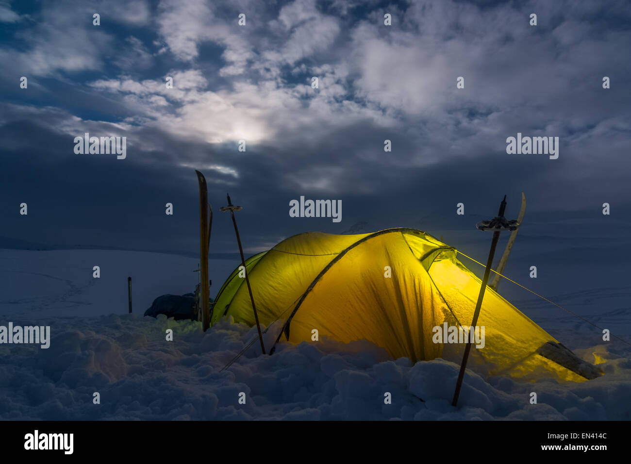Out in the Northern Wilderness - Stock Image
