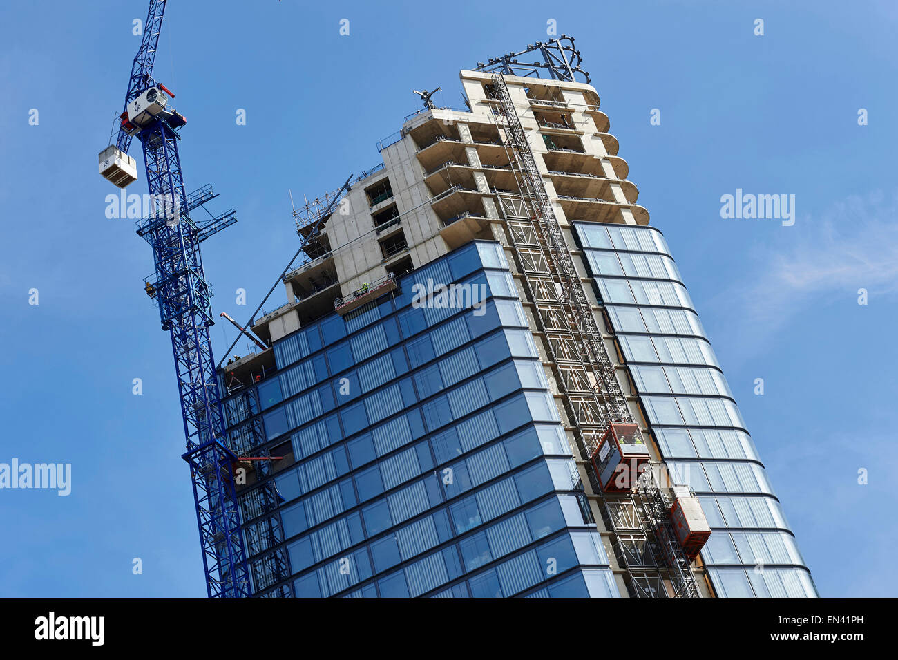 New high rise residential development, under construction, City Road, Islington, London - Stock Image
