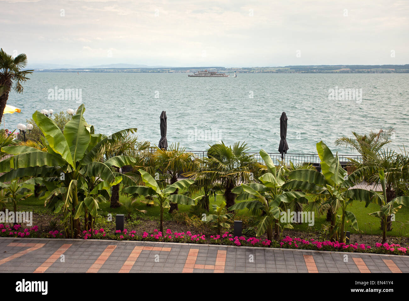 View with Bodensee Lake Stock Photo