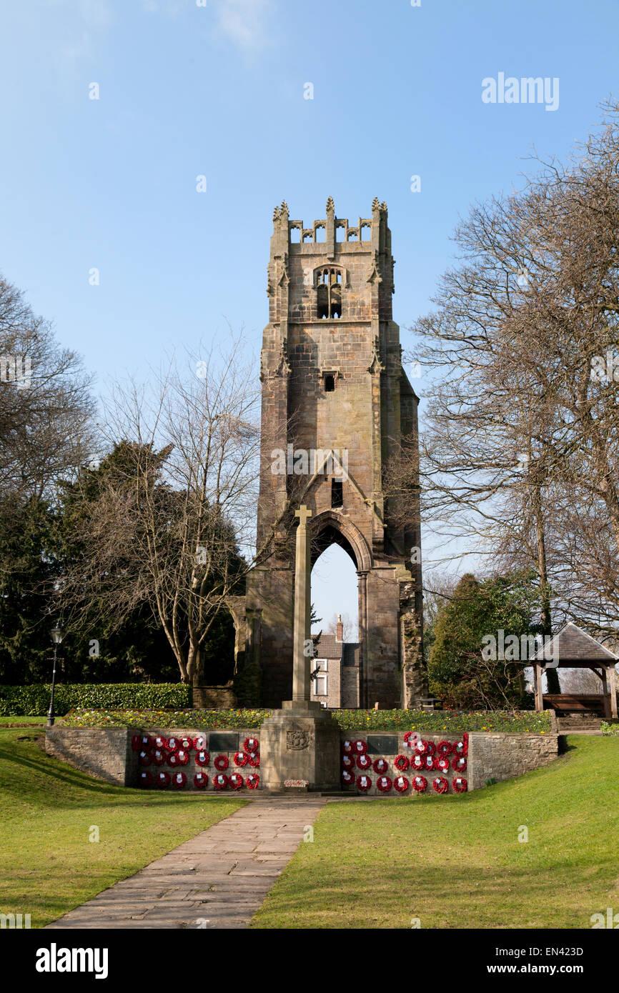 Richmond Friary, a 15th century medieval building, Friary Memorial Gardens, Richmond Yorkshire UK - Stock Image