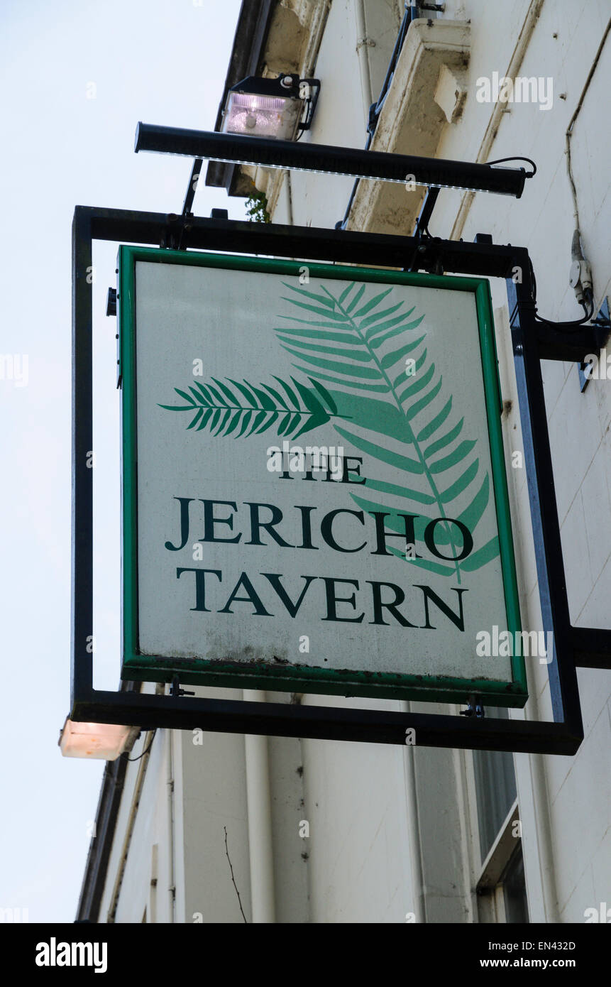 The Jericho Tavern, Oxford. This pub us historically important on the Oxford music scene. Radiohead played their - Stock Image