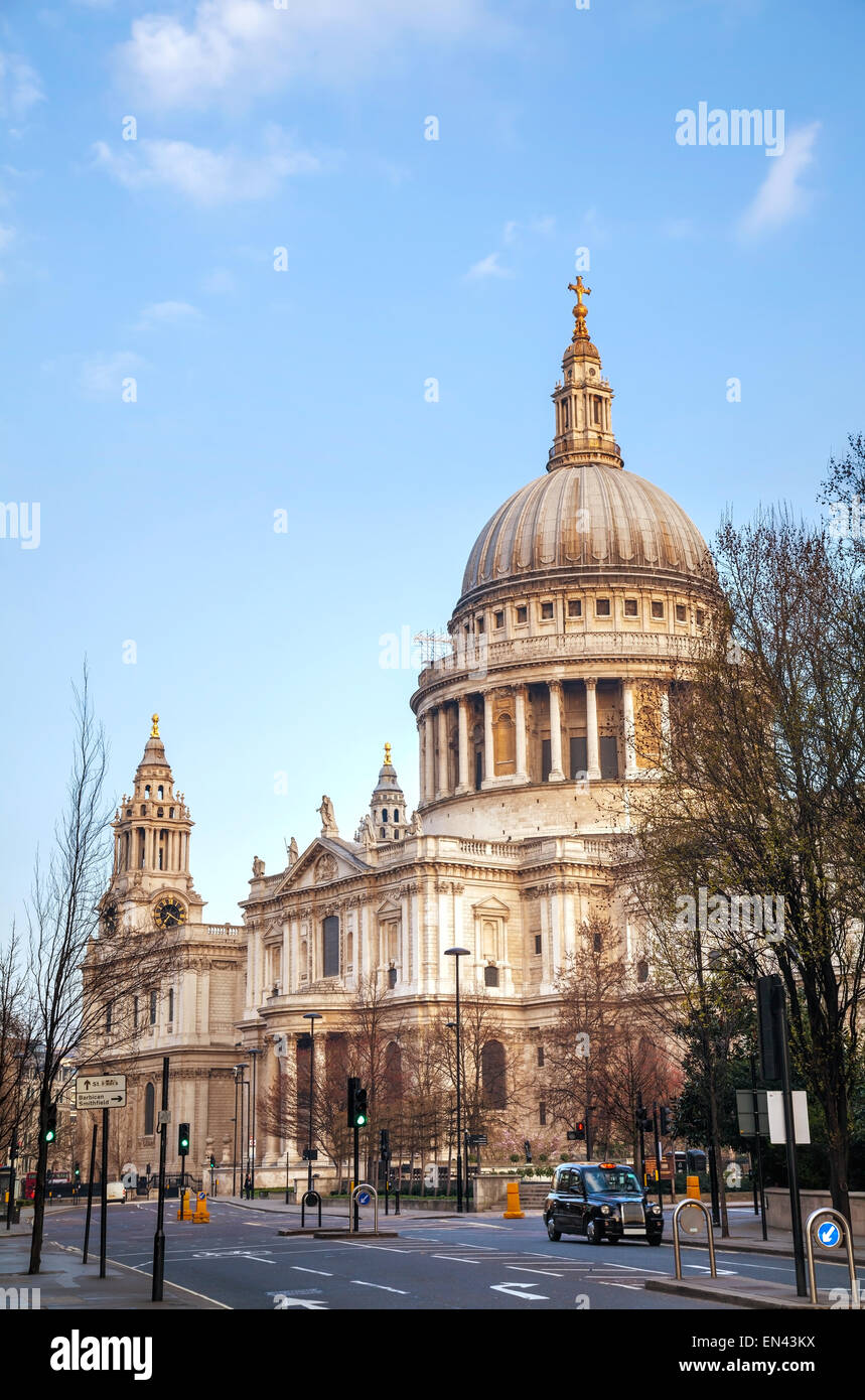 Saint Paul's cathedral in London, United Kingdom in the morning Stock Photo