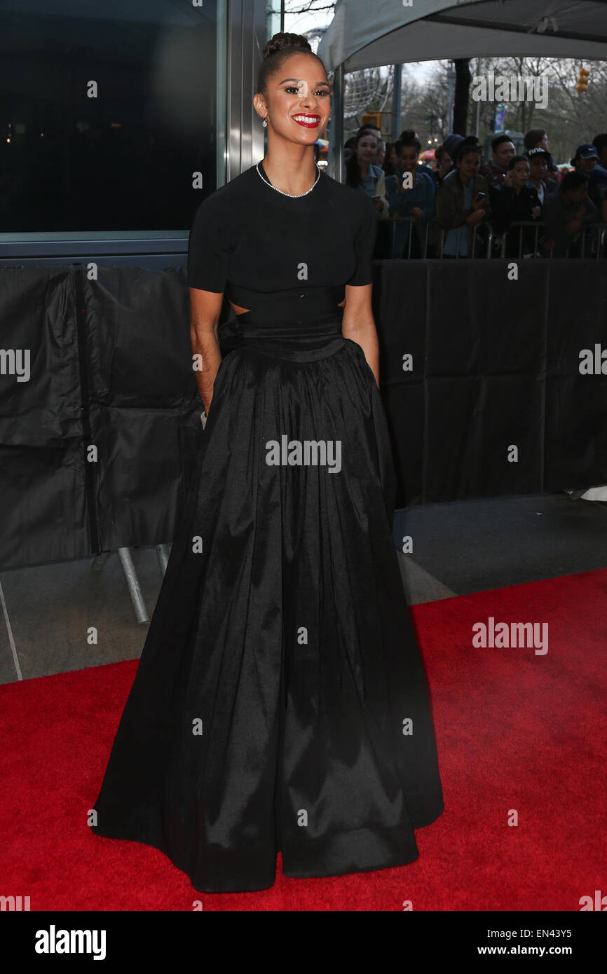 Ballet dancer Misty Copeland attends the 2015 Time 100 Gala at Frederick P. Rose Hall, Jazz at Lincoln Center on - Stock Image