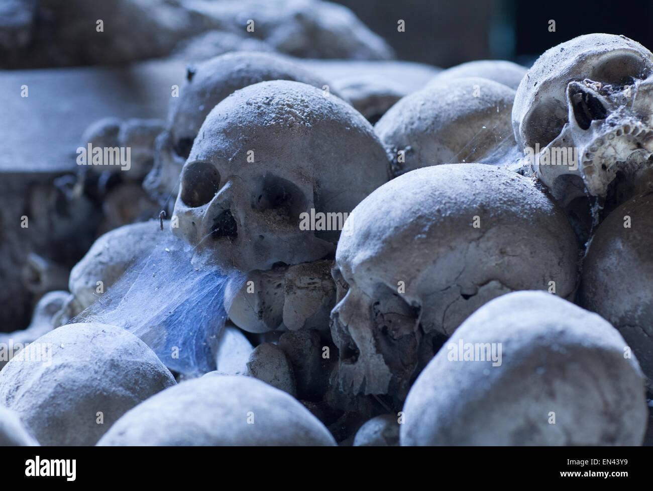 Dark Skull Cemetery In Naples Stock Photos Dark Skull Cemetery In