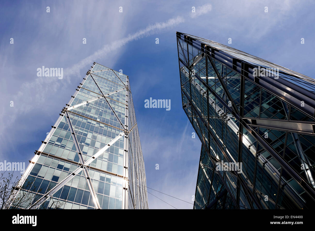 Broadgate Tower, Modern architecture in the Broadgate area, City of London, UK - Stock Image